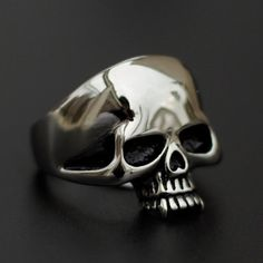 Stainless Steel Knuckles Head Skull Ring – Ringularity
