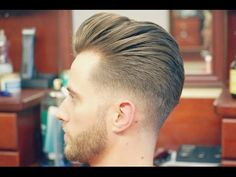 How to Do an Undercut with a Slicked back Pompadour - YouTube