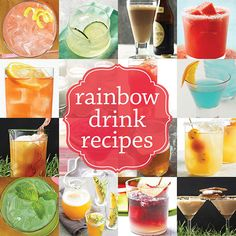 drinks for every color of the rainbow!