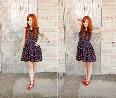 I could feel like Miss Frizzle in an apple dress and some mary-jane inspired flats!