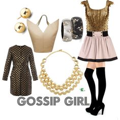 My creation inspired by Gossip Girl character Serena Van der Woodsen.