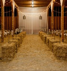 18 Ways to Use Straw Bales for a Shabby Chic Wedding/Garden Party Patio & Outdoor Furniture