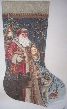 Design Size: x Canvas count: 13 Embroidered Christmas Stockings, Needlepoint Christmas Stockings, Cross Stitch Christmas Ornaments, Xmas Stockings, Christmas Cross, Needlepoint Designs, Needlepoint Stitches, Needlepoint Canvases, Needlework