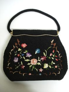 ead56ce6480c Fancy Beaded and Embroidery Handbag Purse Hand Made by lasadana