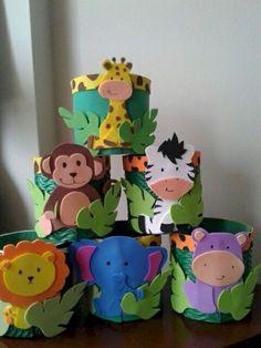 40 Easy DIY Spring Crafts Ideas for Kids 40 einfache Bastelideen für Kinder Kids Crafts, Foam Crafts, Preschool Crafts, Arts And Crafts, Paper Crafts, Kids Diy, Decor Crafts, Safari Crafts, Jungle Theme Birthday
