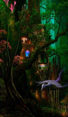 44 great ideas for fantasy landscape magic fairy tales 44 great ideas for fantasy landscape magic fairy tales Fantasy Forest, Magic Forest, World Of Fantasy, Fantasy Places, Magic Fairy, Fantasy Artwork, Fantasy Kunst, Wow Art, Fantasy Landscape