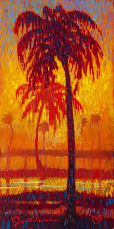 Simon Bull - Evening Palms