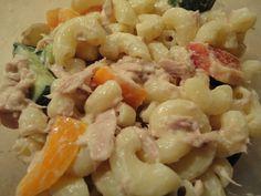 Salade de macaronis au thon.