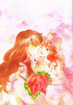 Happy Wedding (Nephrite & Makoto)  Fanart by MOMOKO  Photoart from  ELOPE TO THE EARTH