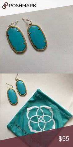 Kendra Scott Danielle earrings Kendra Scott Danielle Turquoise earrings. Comes with dust bag Kendra Scott Jewelry Earrings