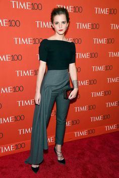 This week's best dressed dared to be demure: Emma Watson.