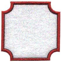 Badge or border element to use stand-alone or as accents to other designs or monograms.