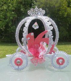 12-Cinderella carro Centerepieces quinceañera Sweet 16