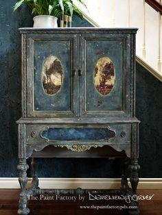 Vintage Furniture Nymph and Fauns French Country Cabinet Sold Country Furniture, Repurposed Furniture, Shabby Chic Furniture, Antique Furniture, Western Furniture, Wooden Furniture, Paint Furniture, Furniture Makeover, Home Furniture