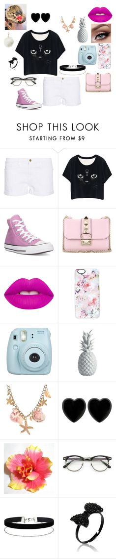 """""""A Outfit"""" by jordanbond55 ❤ liked on Polyvore featuring Frame Denim, Converse, Valentino, Lime Crime, Casetify, Lazy Susan, Dollydagger, Miss Selfridge and Charlotte Russe"""