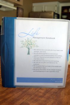 Life Management Binder