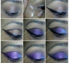 lady purple makeup