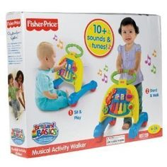 Fisher-Price Brilliant Basics Musical Activity Walker (Age: 6 – 24 months)    - Click image twice for more info - see a larger selection of  baby walker  at  http://zbabybaby.com/category/baby-categories/baby-activity-gear/baby-walker/   -  gift ideas, baby , baby shower gift ideas, toddler . « zBabyBaby.com