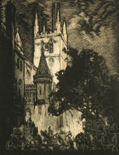 Southwark Cathedral by Sir Frank Brangwyn. Copyright Transport for London.