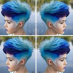 Blue short hair-wicked...love the fade of color