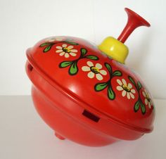 Vintage Czechoslovakian Collectible Spinning Top Toy Perfectly Working