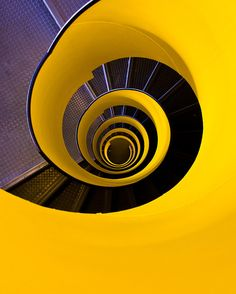 Stairway. Looking down by Cedric Favero, stairways are part of the building and should be art too