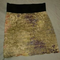 Express tiered ruffle skirt This listing is for the pictured Express skirt...beautiful colors. Express Skirts