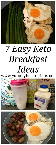 7 Easy Keto Breakfast Ideas - A week of low carb and Ketogenic Diet friendly breakfast recipes. Including ideas with and without eggs, for on the go and lazy breakfasts at home!