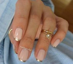 Nude-Nail-Designs-With-Gold-Stripe.jpg (754×655)  http://miascollection.com