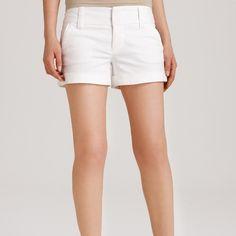 Alice + Olivia White Chino work Shorts Alice + Olivia to Work line - white chino style shorts Alice + Olivia Jackets & Coats