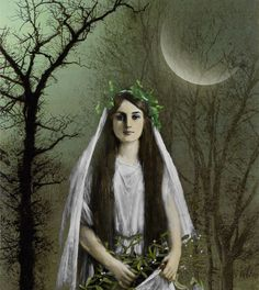 Kristen loves the moon. She makes the night flowers bloom. She never comes inside and is very aloof. She has her own ways. Frida Art, Night Flowers, Witch Doctor, Altered Art, Altered Images, Artist Trading Cards, Art Journal Inspiration, Book Of Shadows, Digital Collage