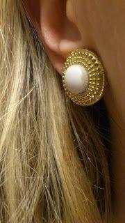 button as a earrings