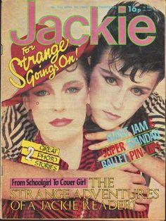 Jackie Magazine 24 April 1982 Issue 955 Steve Strange The Jam Spandau Ballet Steve Strange, Blitz Kids, Stranger Things Steve, Tears For Fears, Girls Magazine, New Romantics, Strange Photos, Ballet, Teenage Years