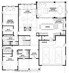 Farmhouse Style House Plan - 4 Beds 5.00 Baths 3536 Sq/Ft Plan #928-310 Floor Plan - Main Floor Plan