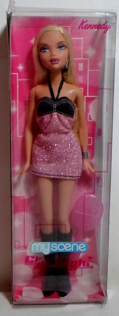 MATTEL 2008 BARBIE MY SCENE KENNEDY CLUB NIGHT 12'' DOLL EUROPEAN DAMAGED BOX #Mattel #DollswithClothingAccessories