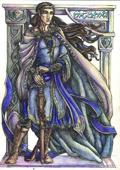 The Hight Lord by Righon.deviantart.com on @deviantART. Fingolfin. Best. Elvenking. Ever.