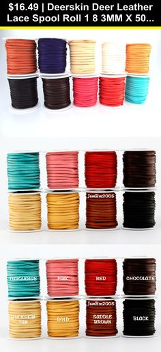 25 Yard Spool of Round Leather Cord in a Variety of Colors Available in Diameters of 1.5 2 3mm