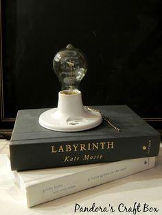 Making your own Book Lamp - Pandora's Craft Box