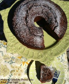 Enjoy a slice of warmly spiced Mexican Chocolate Pound Cake