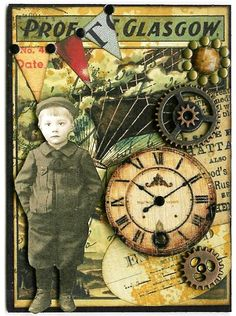 Nostalgic Collage': ATC - Around the World in 80 Days V