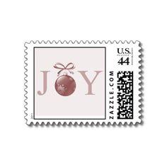 Pink Joy Christmas Ornament Postage