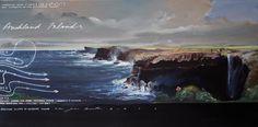 Auckland Islands, 2013. Oil on linen. Peter James Smith