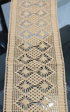 Crochet Table Runner, Table Runners, Cross Stitch, Ideas, Home Decor, Paths, Dots, Tejidos, Needlepoint