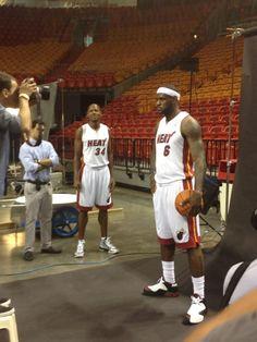 Ray Allen and LeBron James, teammates.