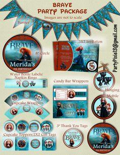 Disney Princess Merida Brave Party Package par PartyPixiePrintables
