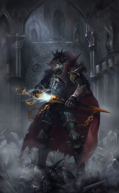 death knight, Jaeseong Park on ArtStation at https://www.artstation.com/artwork/5KPx8