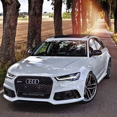 """""""The beast, new Audi RS6 Avant, in Sweden by @auditography Follow @auditography for the best Audi pictures on Instagram."""""""