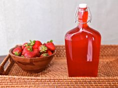 * made June 2016. Delicious.  Cooked about 8 -10 minutes to make it thicker.    Learn how to make Strawberry Simple Syrup at home, no preservatives. Add it to cocktails, mocktails, or pour it over pancakes and waffles!
