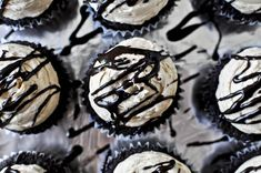 Peanut butter Stuffed Hot fudge Cupcakes... this girl rocks every combination of chocolate and pb known to man... and I don't hate it:)