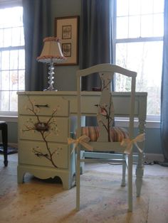 Hand painted furniture by lauraormsby on Etsy, $500.00